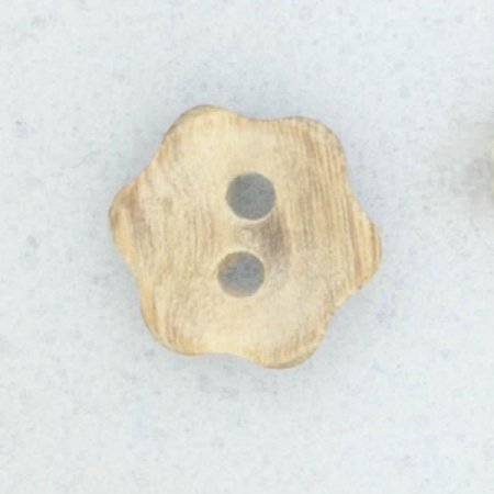 Ref001915 Botón Redondo, Flor, Estrella en colores marron y  madera