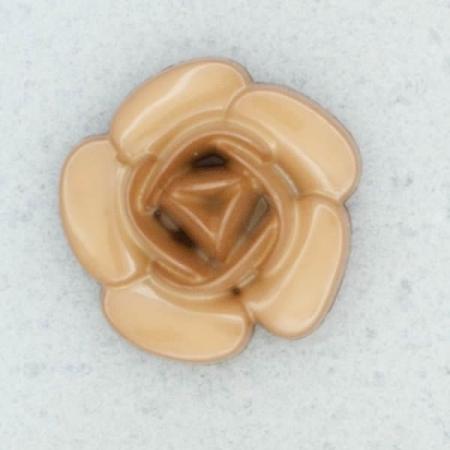 Ref001969 Botón Redondo, Flor en color marron