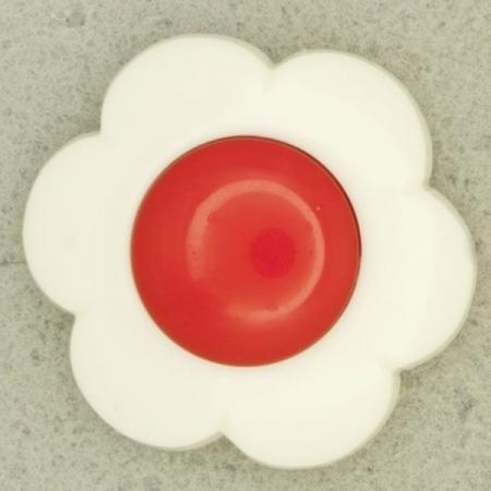 Ref000193 Botón Flor en color rojo