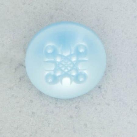 Ref002080 Botón Redondo en color celeste