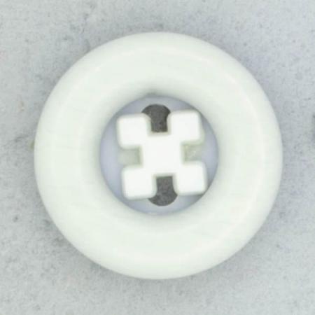 Ref002099 Botón Redondo en colores celeste y blanco