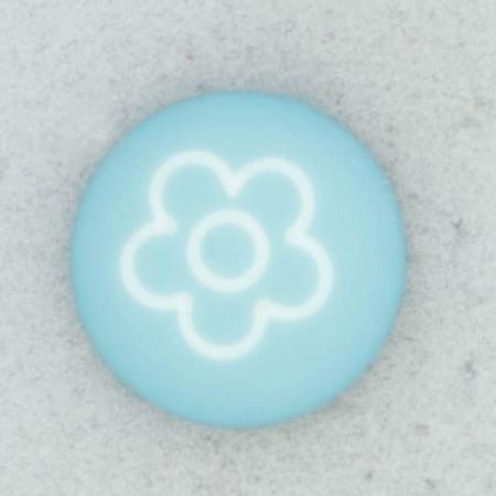Ref002102 Botón Redondo en colores turquesa y blanco