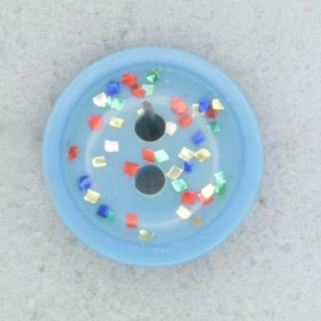 Ref002103 Botón Redondo en colores turquesa y rojo y amarillo y verde y azul