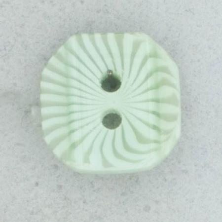 Ref002118 Botón Octógono en colores verde y turquesa
