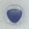 Ref002245 Botón Redondo en colores azul marino y  transparente
