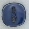 Ref002246 Botón cuadrado en color azul marino
