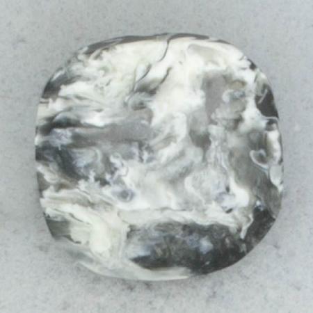 Ref002263 Botón cuadrado en colores gris y  blanco y  negro