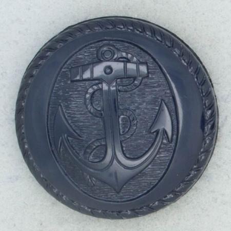 Ref002264 Botón Redondo en color azul marino