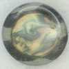 Ref002322 Botón Redondo en colores verde y  dorado