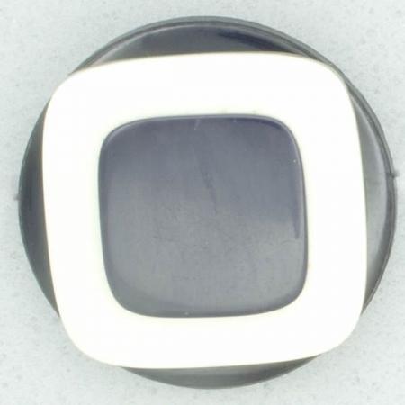 Ref002349 Botón Redondo en colores blanco y  azul marino