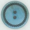 Ref002371 Botón Redondo en colores azul y  turquesa