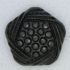 Ref000011 Botón Pentágono en color negro