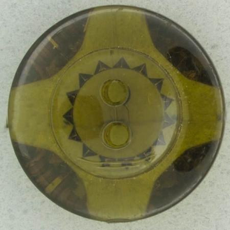 Ref002475 Botón Redondo en colores marron y transparente