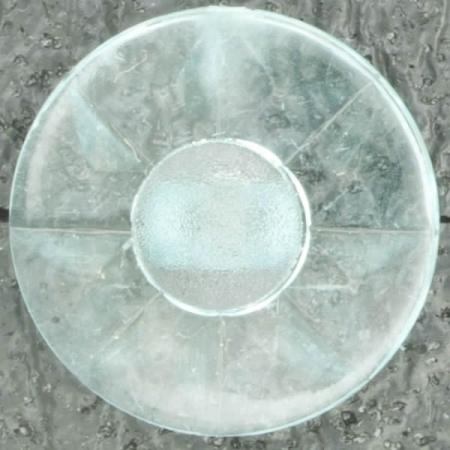 Ref002489 Botón Redondo en colores celeste y turquesa y transparente