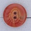 Ref000245 Botón Redondo en colores rojo y  salmon