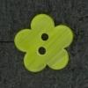 Ref002528 Botón Estrella, flor en colores verde y amarillo