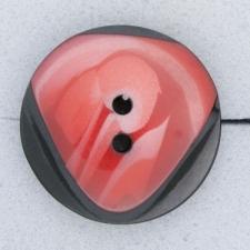 Ref000251 Botón Redondo en colores rojo y  negro y  rosa