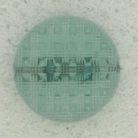 Ref002564 Botón Redondo en colores turquesa y transparente