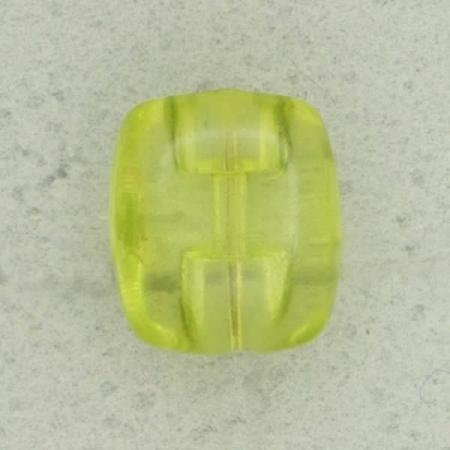 Ref002588 Botón Rectangular en colores amarillo y transparente