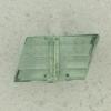 Ref002648 Botón Tubular en colores verde y transparente
