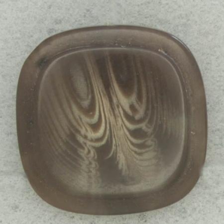 Ref002760 Botón Cuadrado en colores marron y  gris