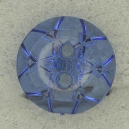 Ref002774 Botón Redondo en colores azul y  transparente