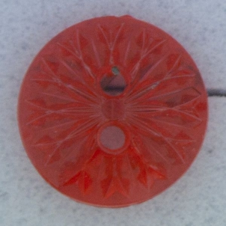 Ref000275 Botón Redondo en colores rojo y  fucsia