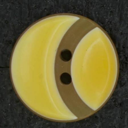 Ref002829 Botón Redondo en colores naranja y amarillo