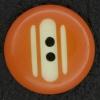 Ref002898 Botón Redondo en colores naranja y blanco