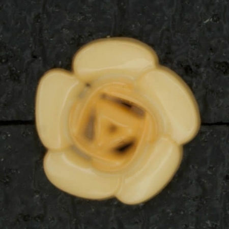 Ref002908 Botón Redondo, flor en color naranja