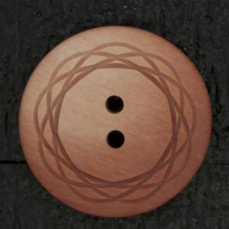 Ref003000 Botón Redondo en colores rosa y  rojo