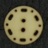 Ref003036 Botón Redondo en colores marron y  beige
