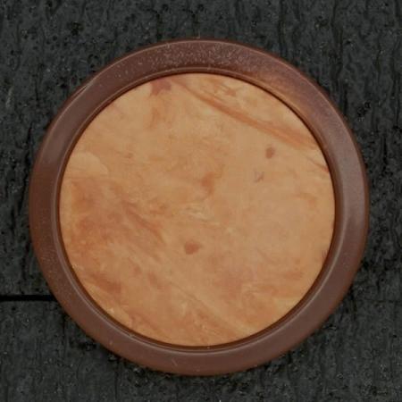 Ref003039 Botón Redondo en colores marron y  rojo y  naranja
