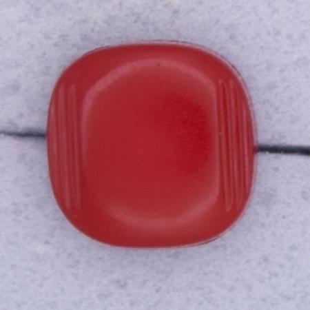 Ref000304 Botón Cuadrado en color rojo