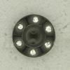 Ref003080 Botón Redondo en colores negro y  plata