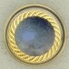 Ref003085 Botón Redondo en colores azul y  dorado