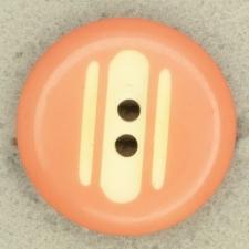 Ref003551 Botón Redondo en colores rosa y  blanco