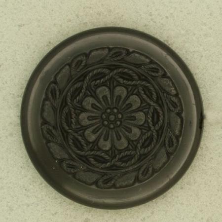 Ref004022 Botón Redondo en color negro