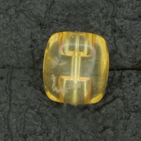 Ref004043 Botón Rectangular en colores amarillo y transparente