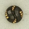 Ref001562 Botón Redondo en colores negro y  dorado