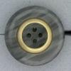 Ref000820 Botón Redondo en colores negro y  blanco y  gris y  blanco y  dorado