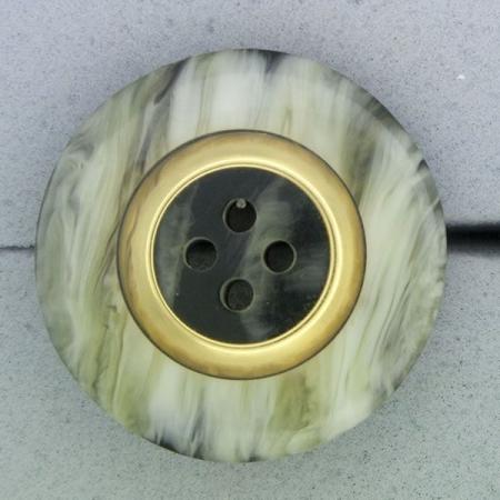 Ref000821 Botón Redondo en colores negro y  blanco y  gris y  blanco y  dorado