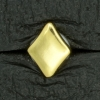 Ref001566 Botón Rombo en color dorado